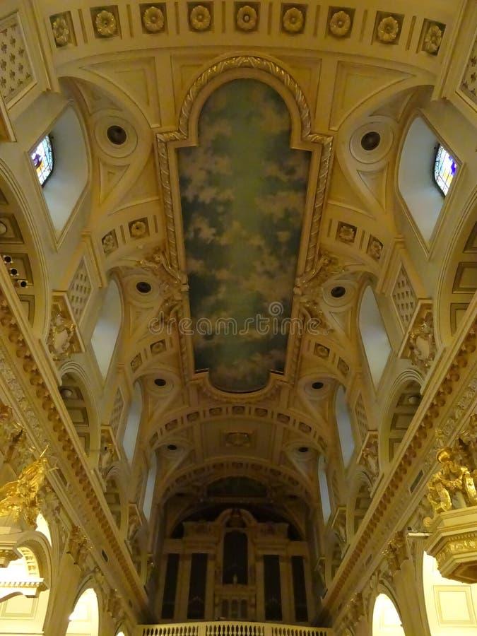 Notre Dame Cathedral du Québec : À l'intérieur photo stock