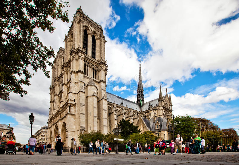Notre Dame Cathedral, France stock photos