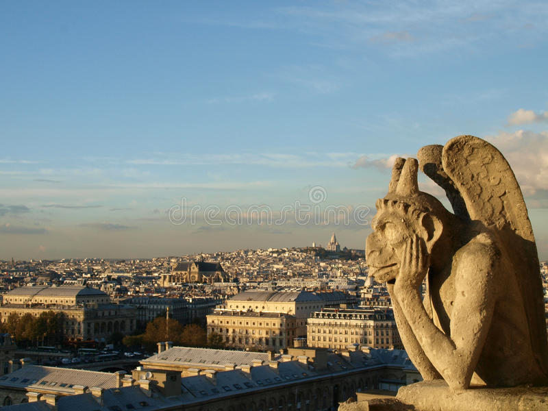Notre Dame Cathedral Gargoyle image stock