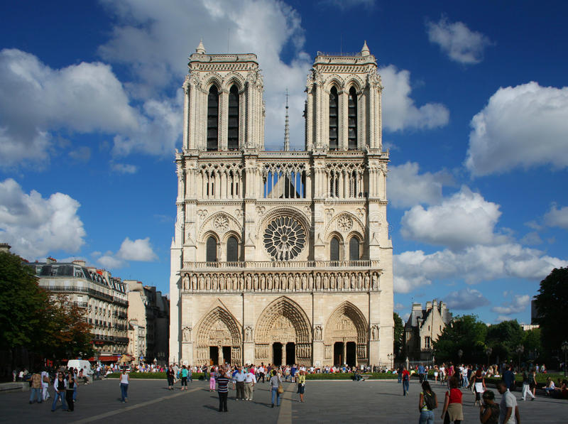 Notre Dame Cathedral i Paris royaltyfria bilder