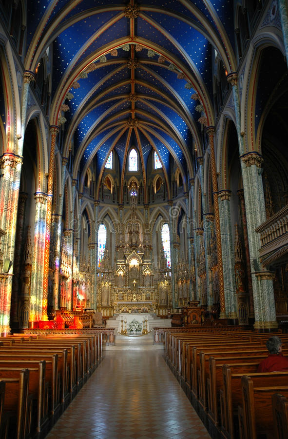 Notre Dame Cathedral Ottawa royalty free stock images