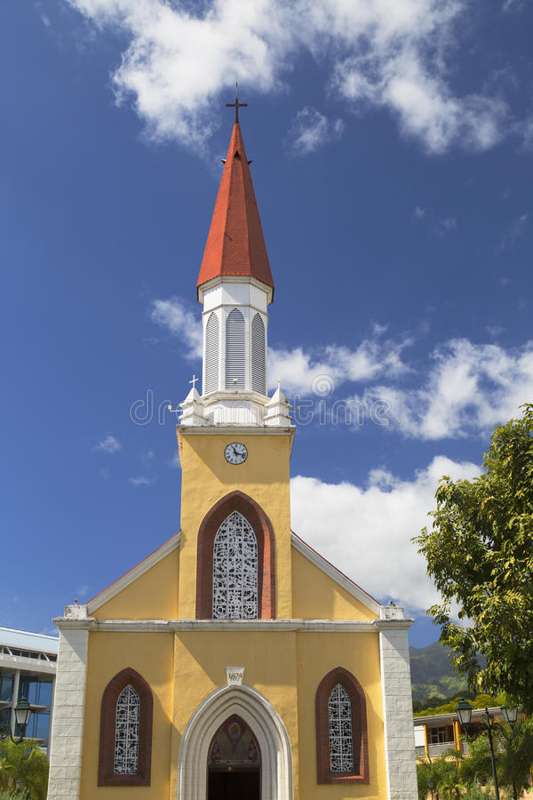 Notre Dame Cathedral, Pape'ete, Tahiti, Polynésie française photographie stock