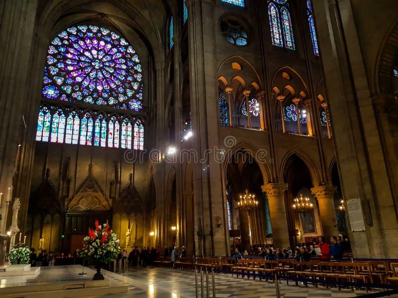 Notre Dame Cathedral, Parijs, Frankrijk stock foto