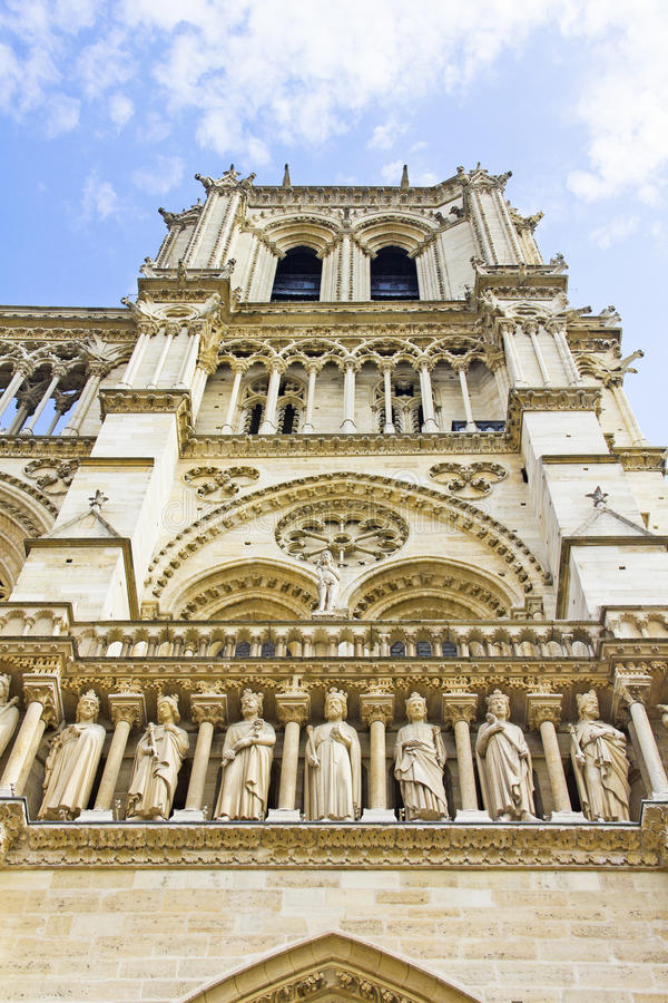 The Notre Dame cathedral, Paris stock photography
