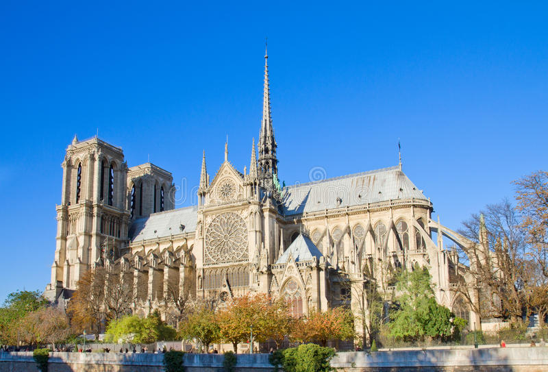 Notre Dame cathedral, Paris, France royalty free stock photography