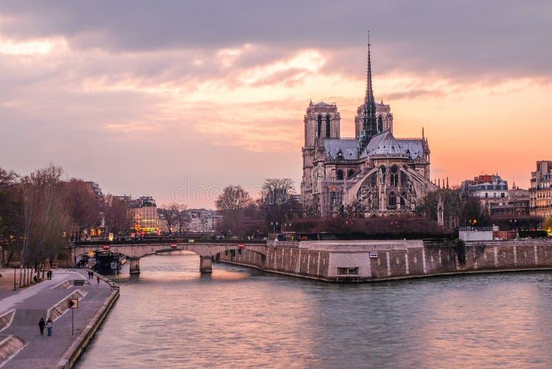 Notre Dame Cathedral, Paris, France photographie stock libre de droits