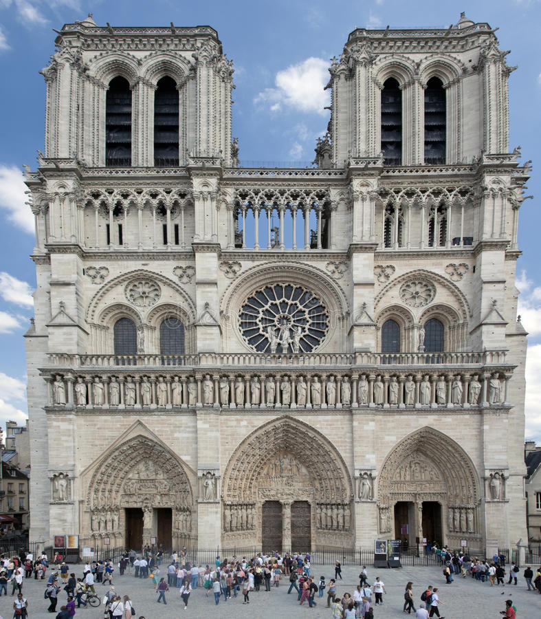 notre dame cathedral paris france editorial photography image