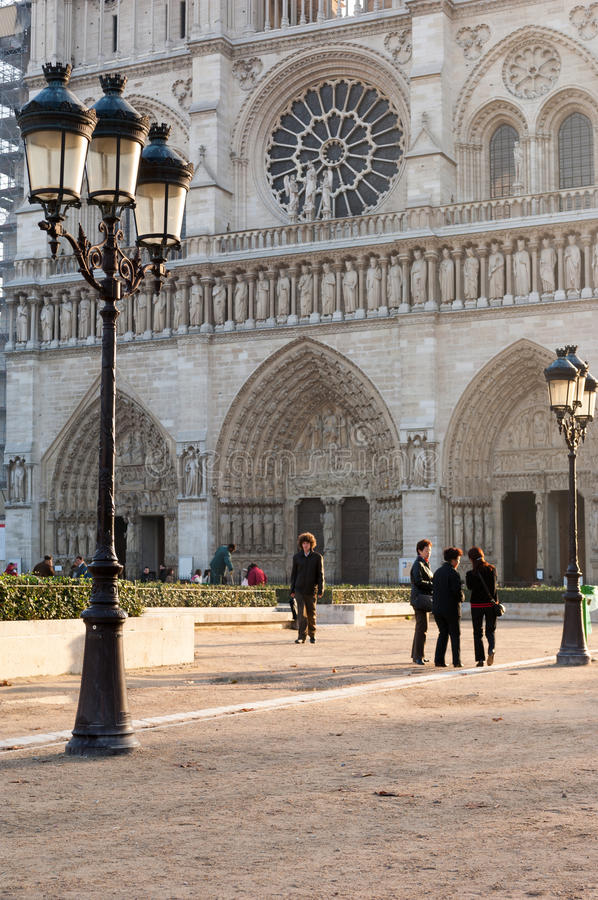 Notre Dame Cathedral, Paris royalty free stock photography