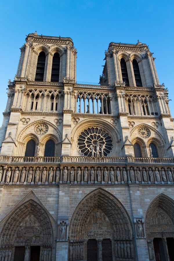 notre dame cathedral paris france paris tourist attraction stock