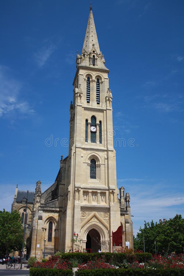 The Notre Dame Catheral in Bergerac stock photography