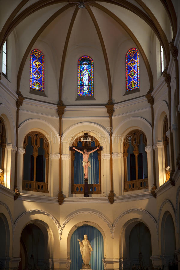 Notre Dame Catherdral Basilica Saigon royalty free stock images