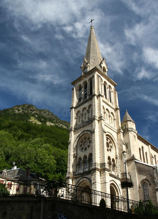 Notre-Dame of Cauterets - France royalty free stock photos