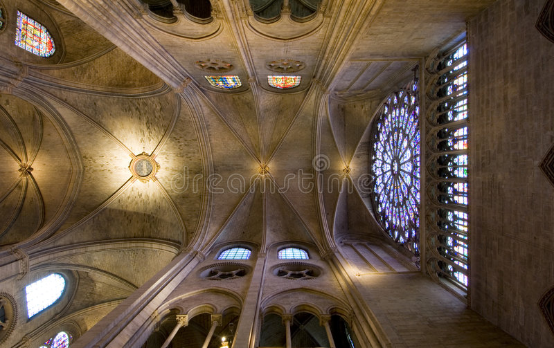 Notre Dame Ceiling royalty free stock photography