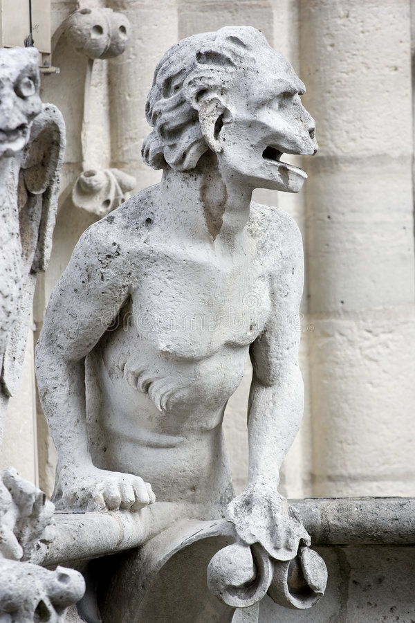 Notre-Dame Chimera royalty free stock images