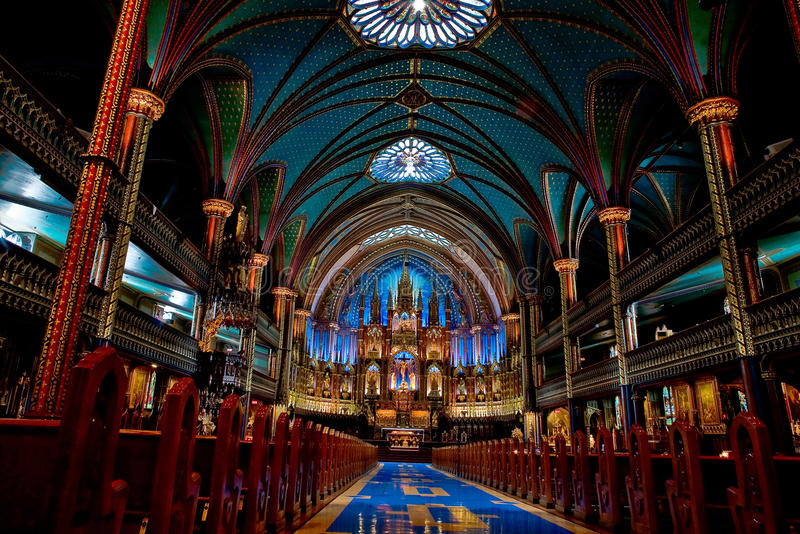 Notre Dame church stock photography