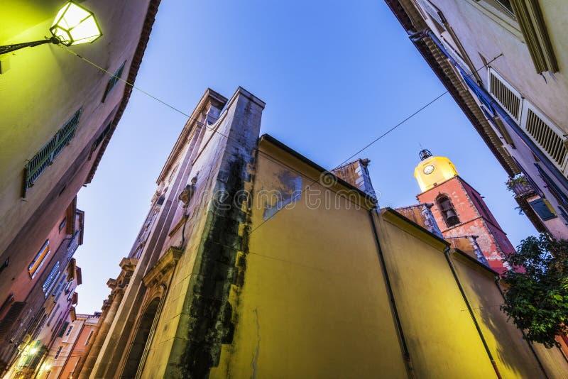 Notre Dame Church i Saint Tropez royaltyfria foton