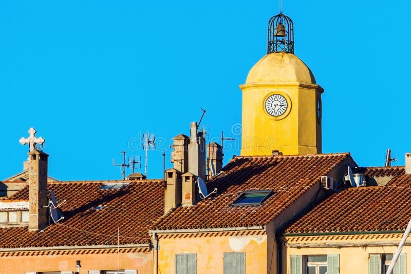 Notre Dame Church i Saint Tropez arkivfoto