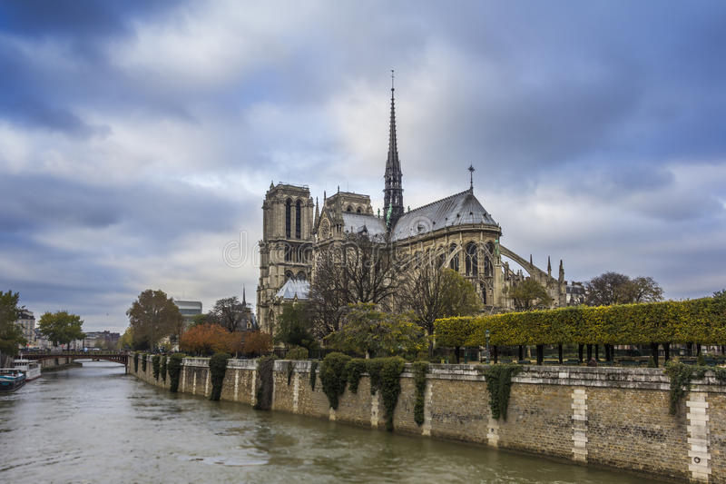 Notre Dame. Church of Notre Dame in Paris, France stock images