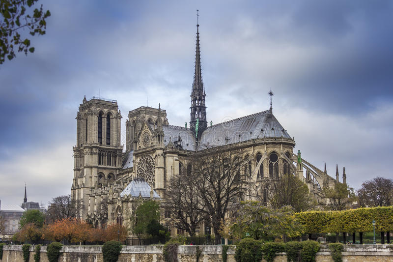 Notre Dame. Church of Notre Dame in Paris, France stock photography