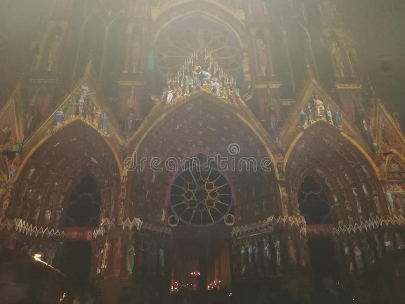 Notre Dame de兰斯 库存图片