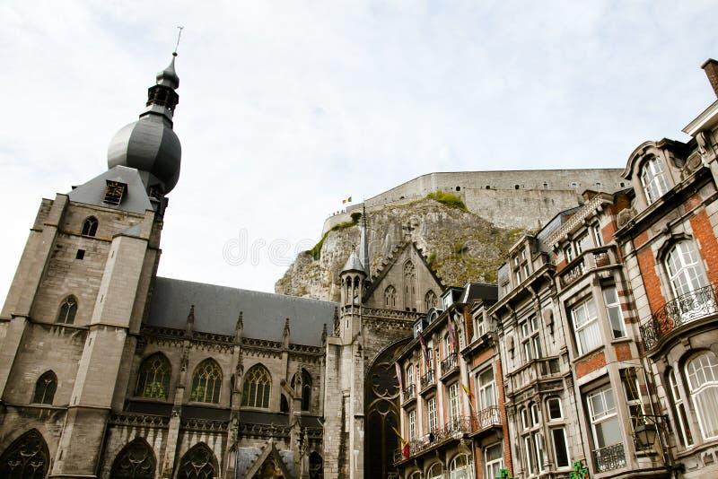 Notre Dame de迪南教会-比利时 免版税库存图片