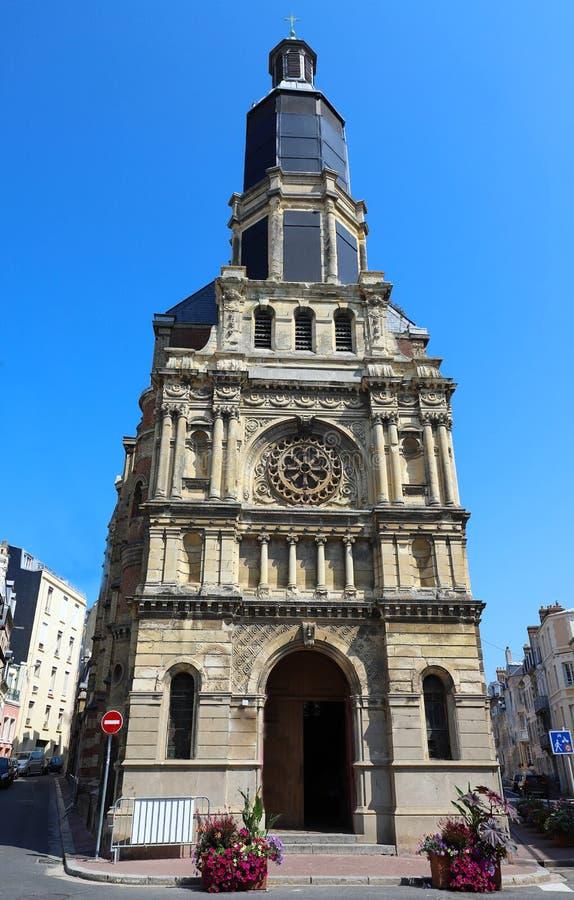 Notre Dame De Bon Secours Church en Trouville-sur-MER, Francia imágenes de archivo libres de regalías