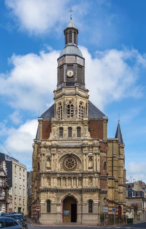 Notre Dame De Bon Secours Church, Trouville-sur-MER, Frankreich lizenzfreie stockfotografie