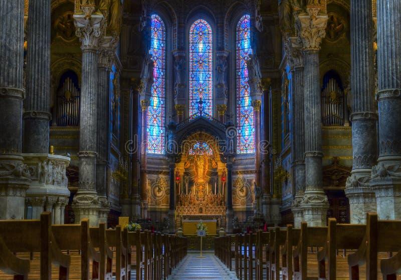 Notre Dame de Fourvière fotografia stock