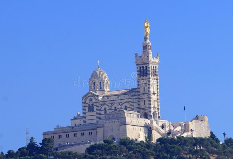 Notre Dame de la Garde royaltyfri bild