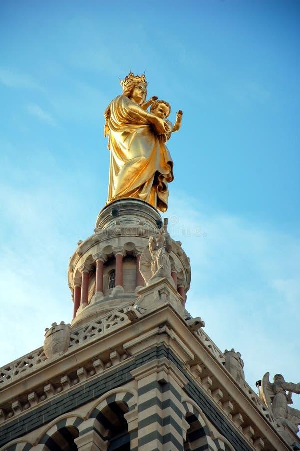 Notre-Dame de la Garde. In Marseille, France stock images
