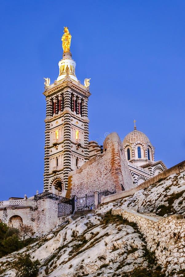 Notre Dame de la Garde, Marseille, France. royalty free stock photos