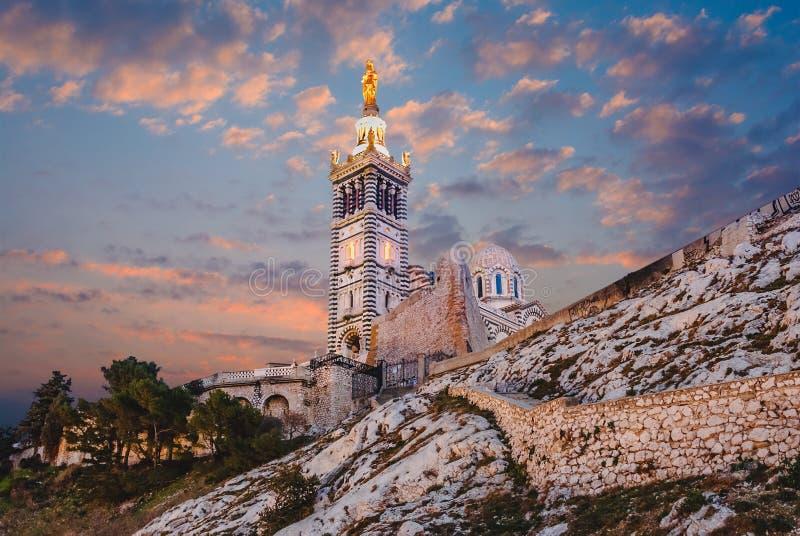 Notre Dame de la Garde, Marseille, France. stock photography