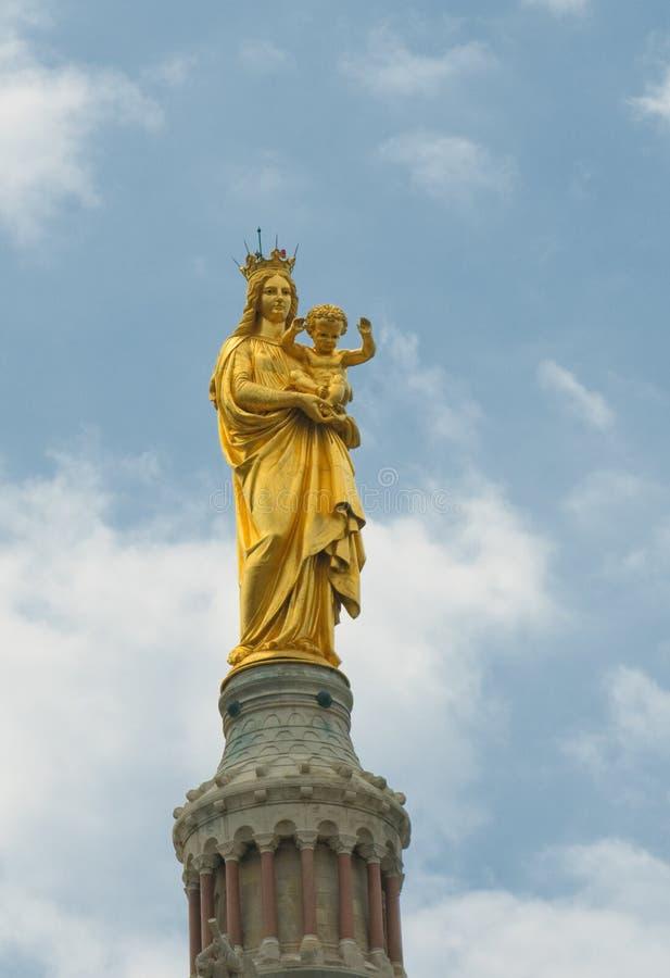 Notre-dame DE La garde, Marseille, Frankrijk stock foto's