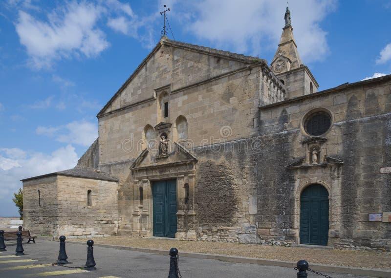 Notre Dame de la Major -天主教会-阿尔勒-普罗旺斯- Camargue -法国 图库摄影