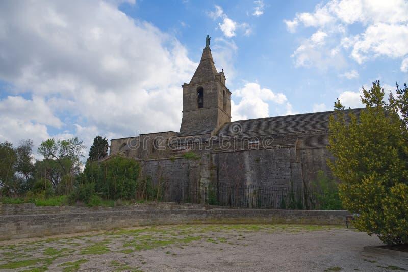 Notre Dame de la Major -天主教会-阿尔勒-普罗旺斯- Camargue -法国 免版税库存照片