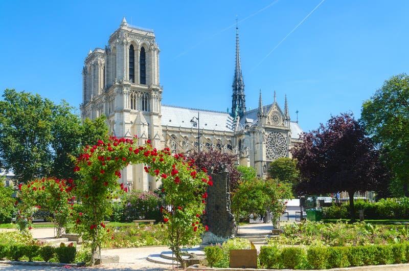 Notre Dame de París. foto de archivo