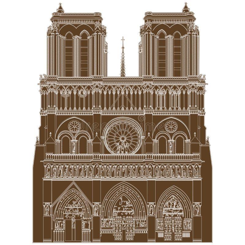 Notre Dame De Paris ilustracja wektor