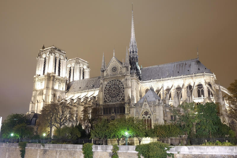 Notre-Dame de Paris stock fotografie