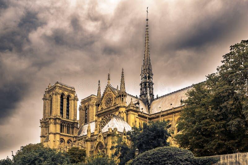 Notre Dame de Paris imagen de archivo libre de regalías