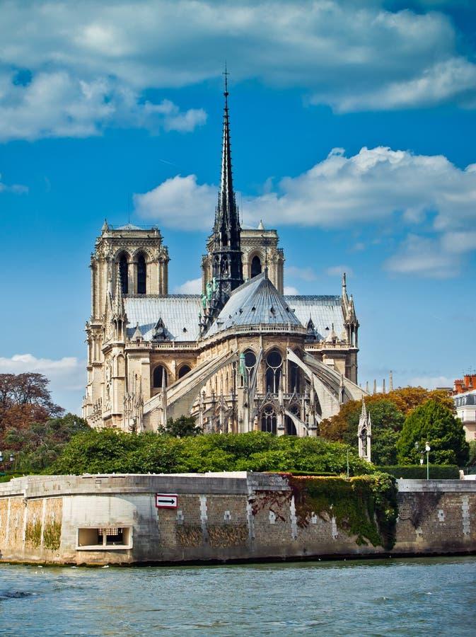 Notre Dame de Paris carhedral imagen de archivo
