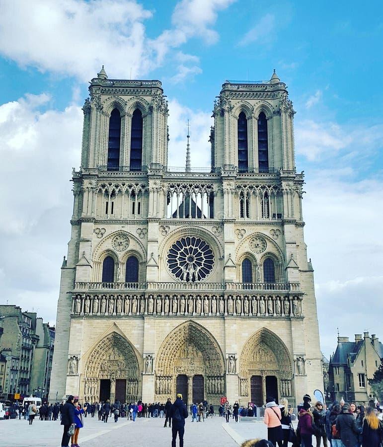 Notre-Dame de Paris de Cathédrale de foto de stock