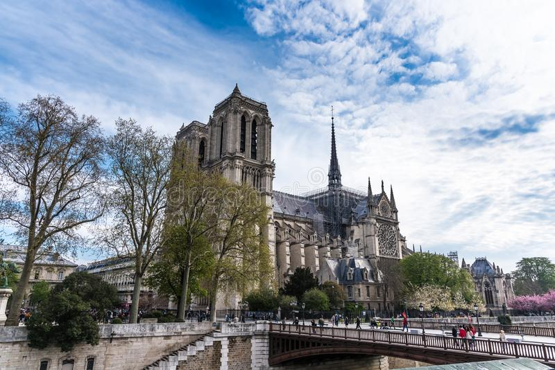 Notre-Dame de Paris photo stock
