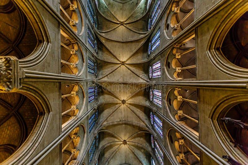 Notre Dame de Paris Cathedral royalty-vrije stock foto