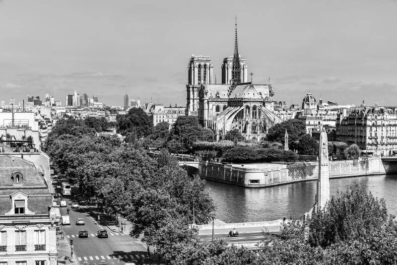 Notre Dame de Paris Cathedral auf der Zitierungs-Insel Paris, Frankreich lizenzfreies stockfoto