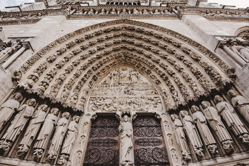 Notre Dame de Paris Cathedral Gates photos libres de droits