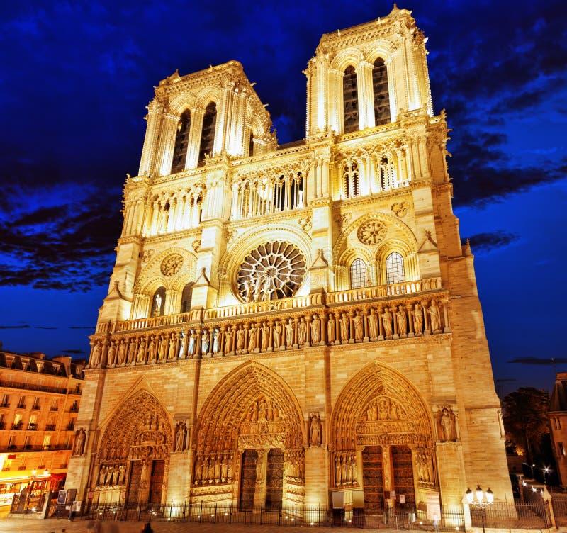 Notre Dame de Paris Cathedral. Parijs. Frankrijk. royalty-vrije stock afbeeldingen