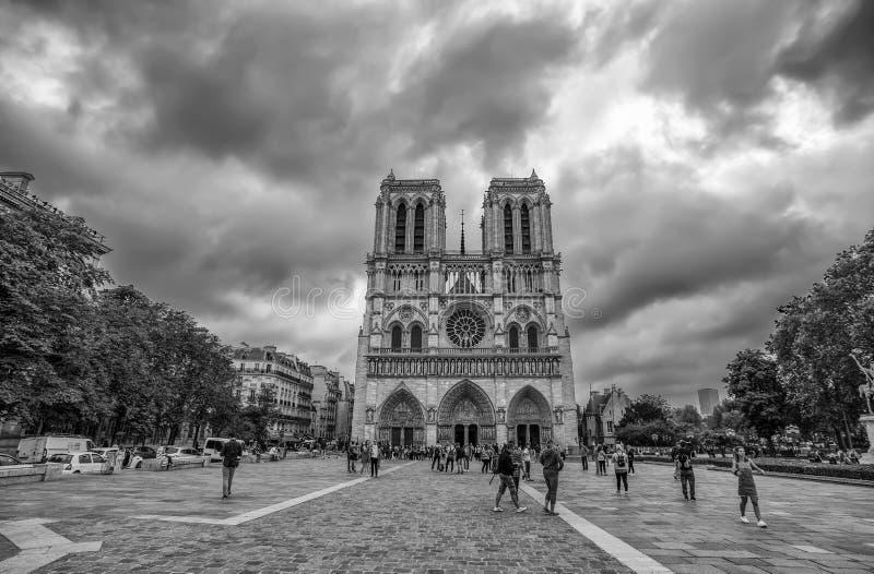 Notre Dame de Paris Chatedral en París, Francia imagen de archivo libre de regalías