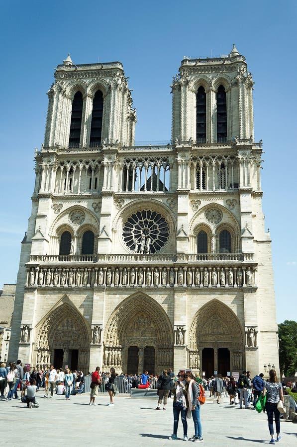 Notre-Dame de Paris da catedral fotografia de stock