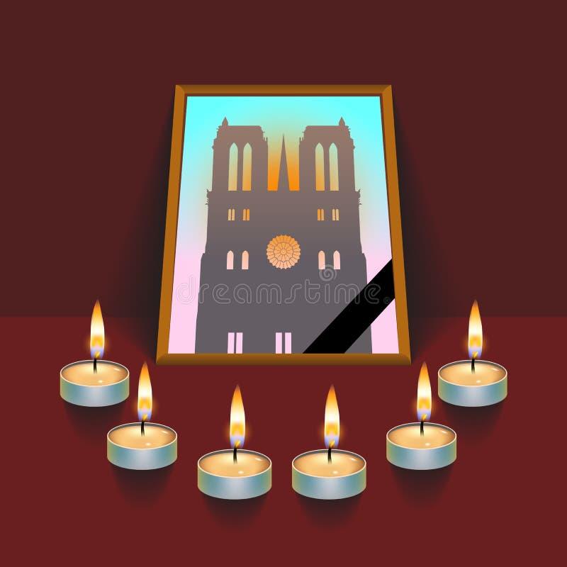 Notre Dame de Paris Fire fotos de archivo libres de regalías