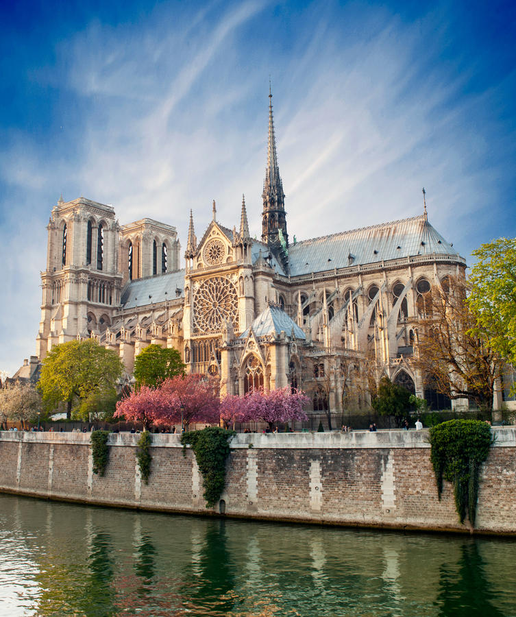 Notre Dame de Paris - France fotografia de stock royalty free